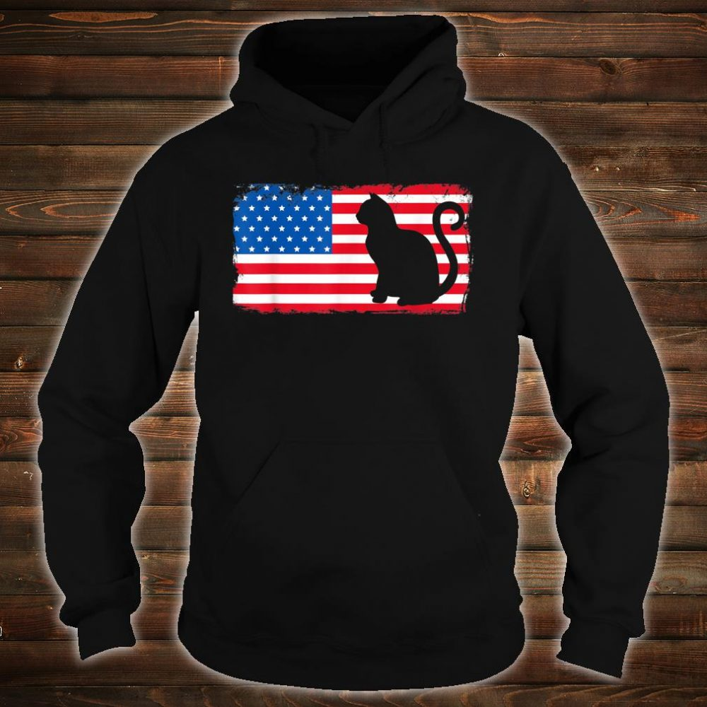 Cat Red White Blue Patriotic Shirt hoodie