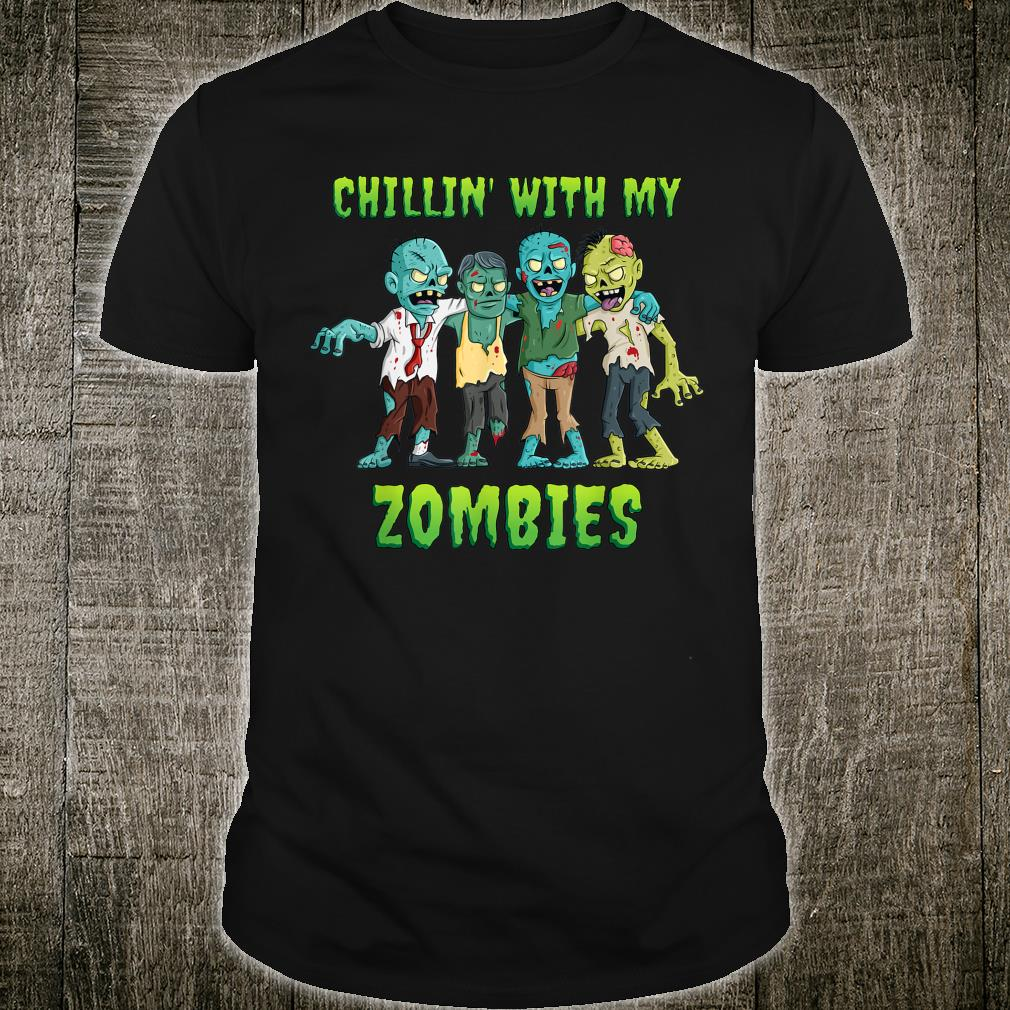 Chillin With My Zombies Halloween Boys shirt