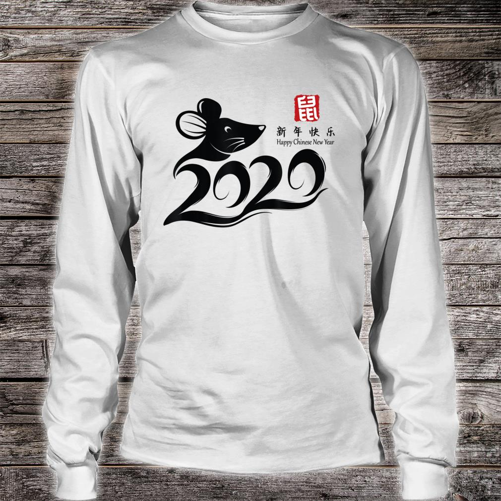 Chinese New Year 2020 Year of the Rat Zodiac Shirt long sleeved