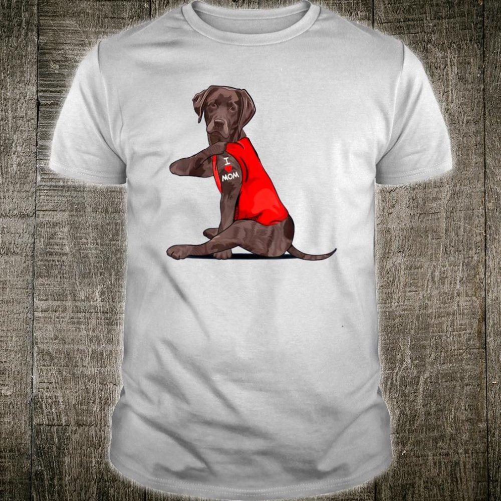 Chocolate Lab Labrador Mom Tattoo Shirt