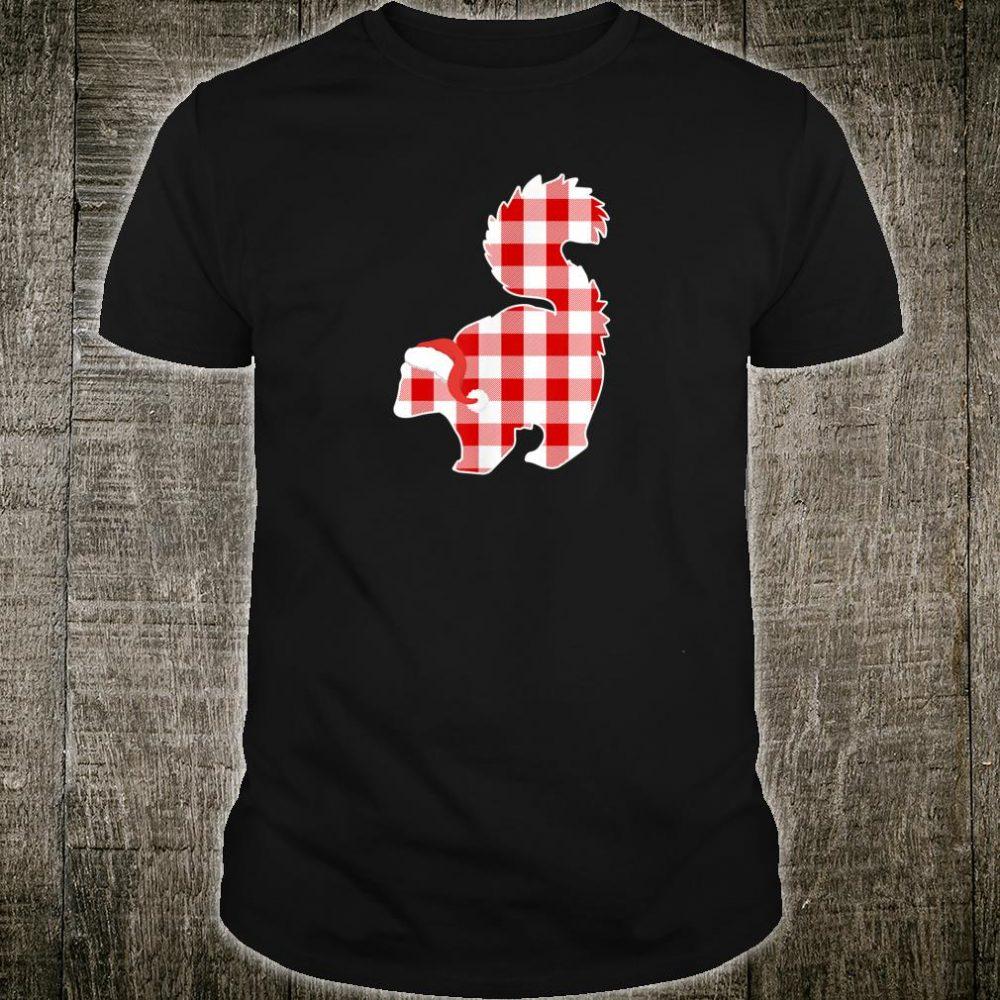 Christmas Buffalo Plaid Pajamas Skunk Xmas Shirt