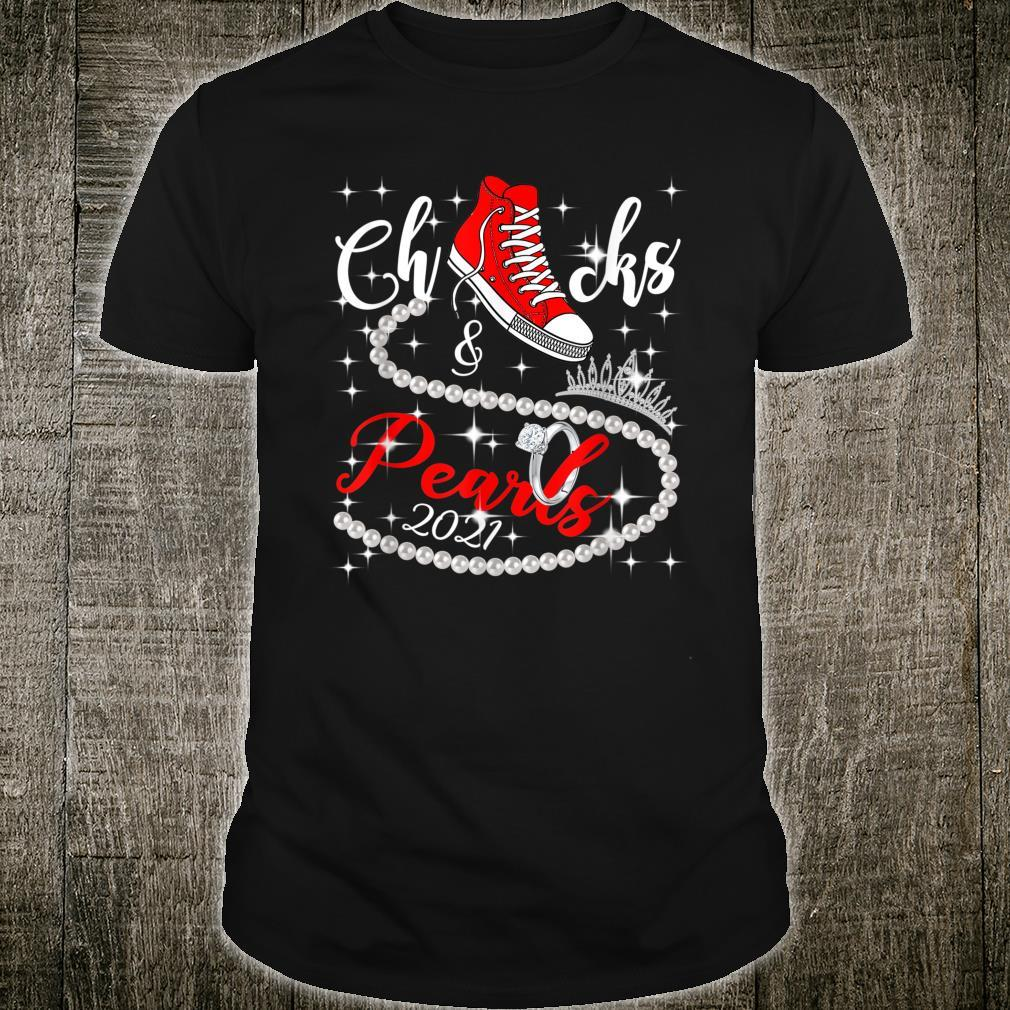 Chucks and Pearls 2021 HBCU Black Girl Magic Red Shirt