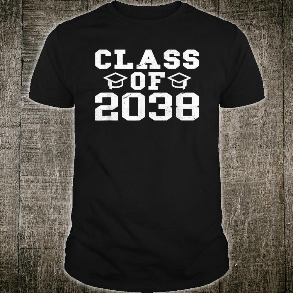 Class Of 2038 Grow With Me Kindergarten Shirt