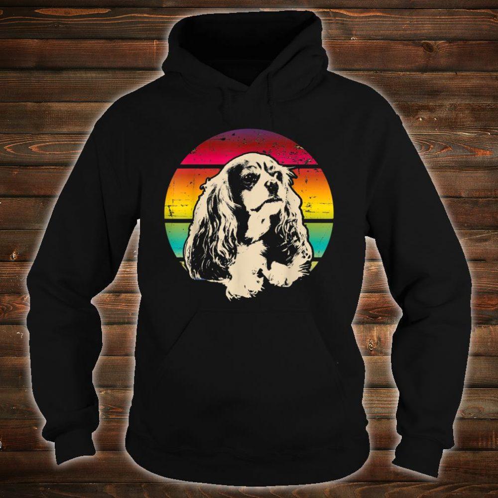 Classic Retro Cavalier King Charles Spaniel Shirt hoodie