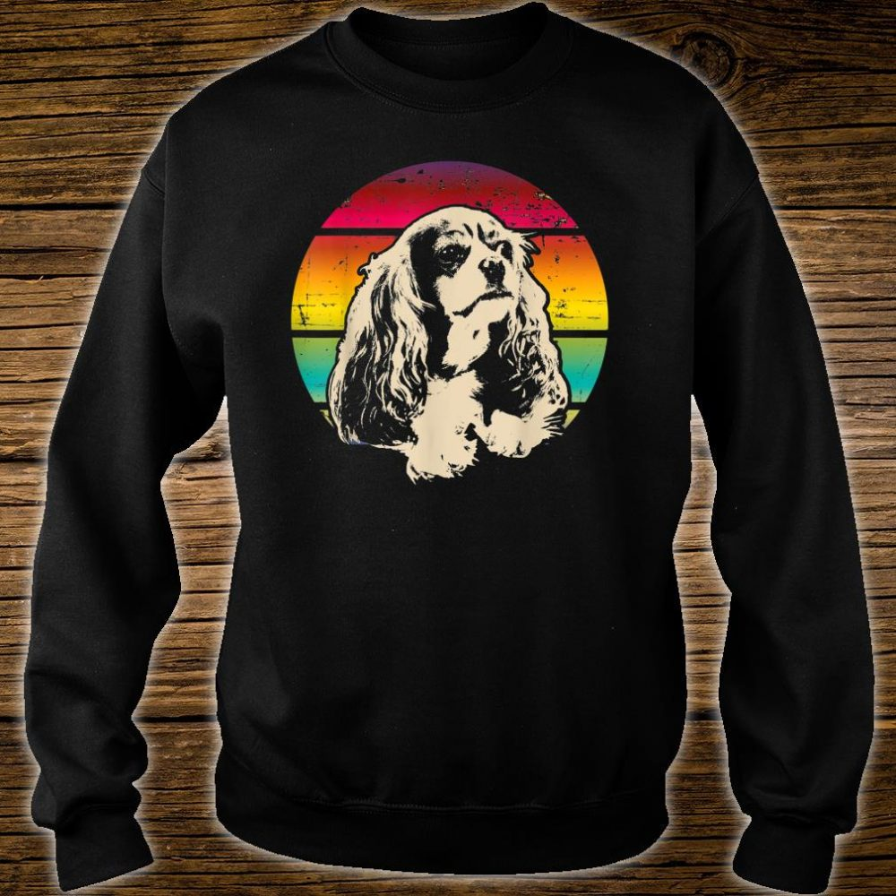 Classic Retro Cavalier King Charles Spaniel Shirt sweater