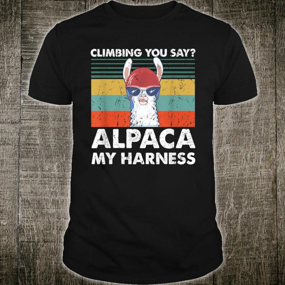 Climbing Costume Cool Alpaca Rock Climber Shirt