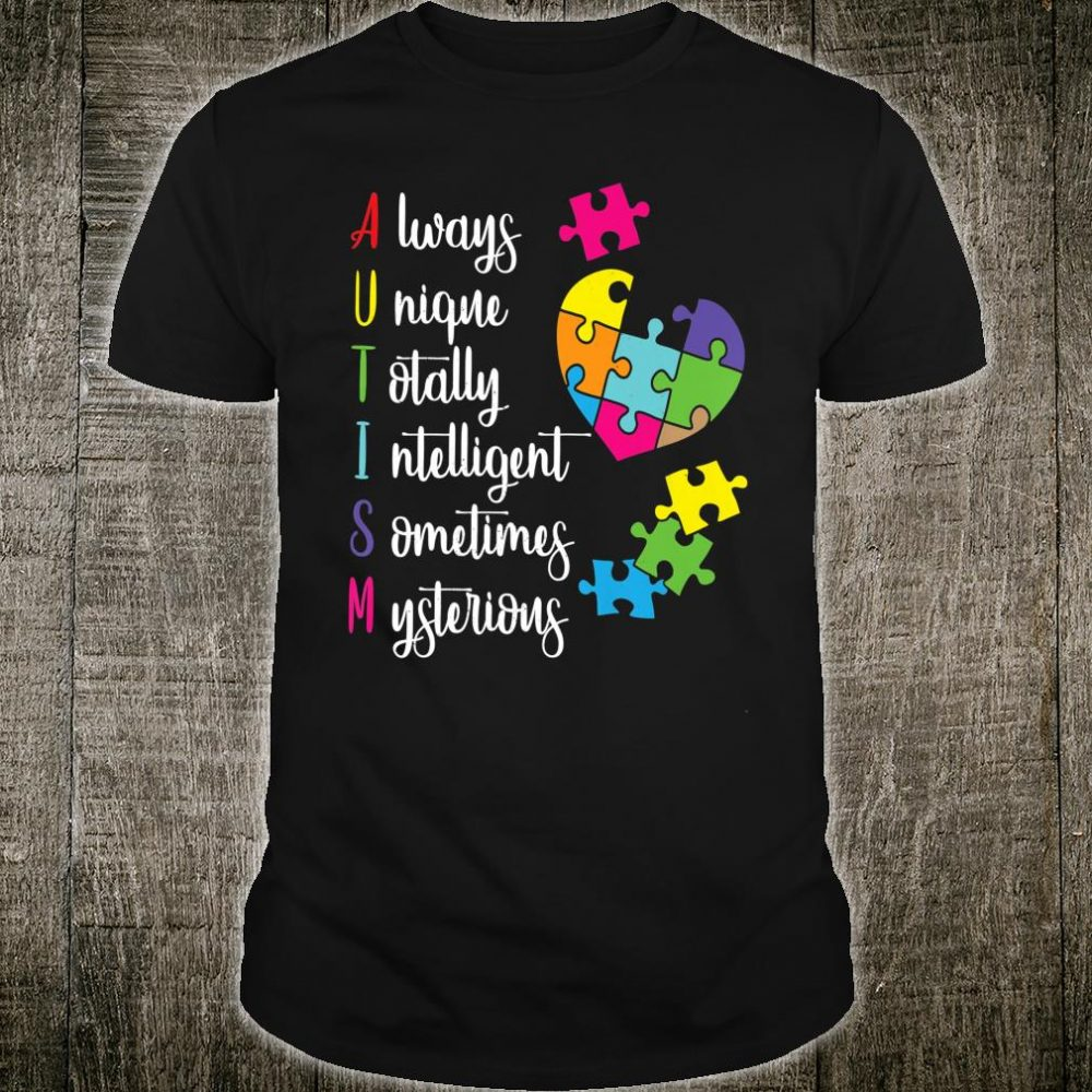 Colorful Autism Awareness Gift Design for ASD Parents Shirt