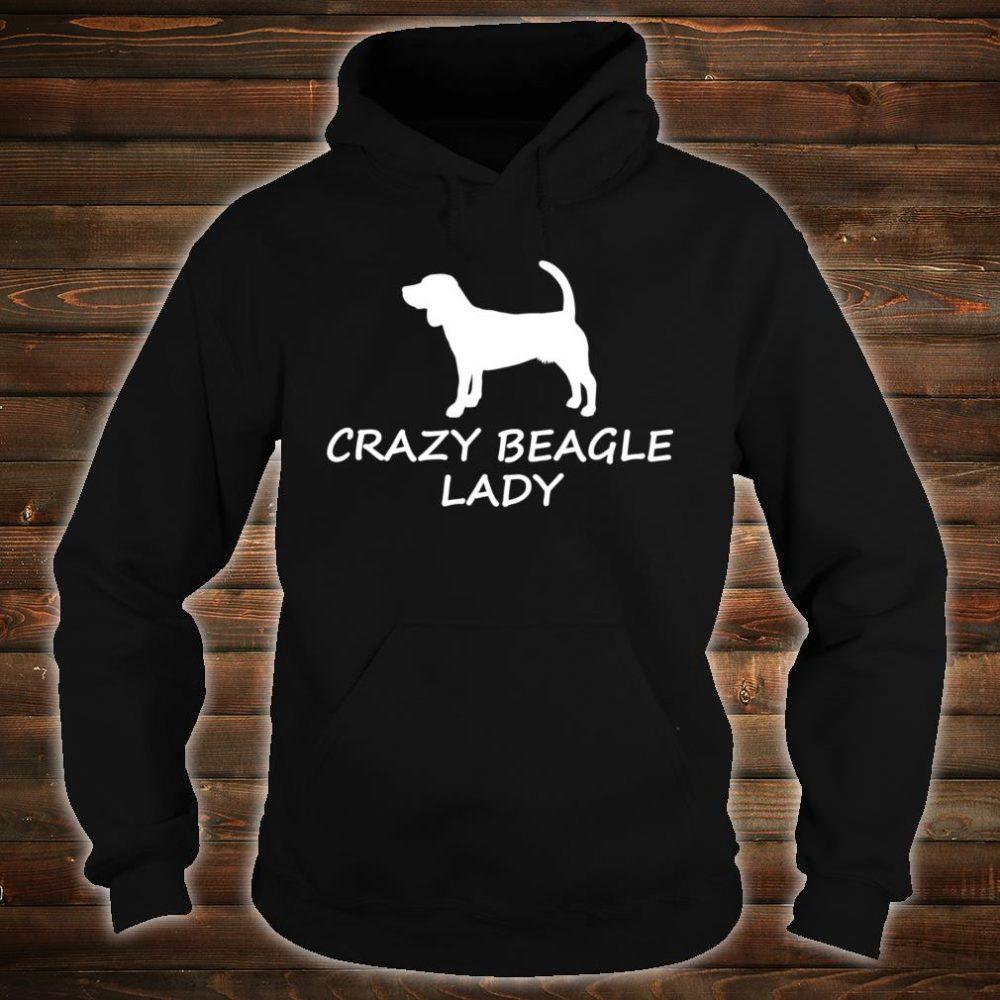 Crazy Beagle Lady Cute Dog Lover Shirt hoodie