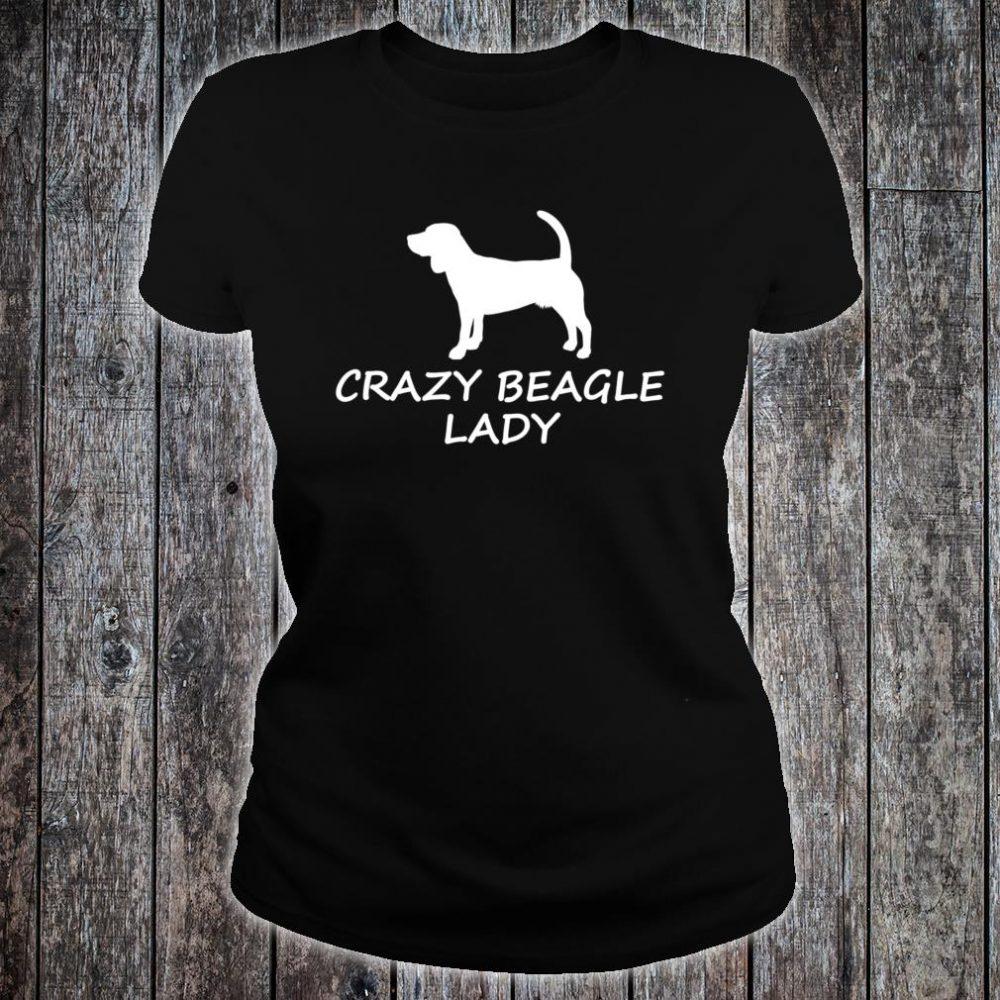 Crazy Beagle Lady Cute Dog Lover Shirt ladies tee