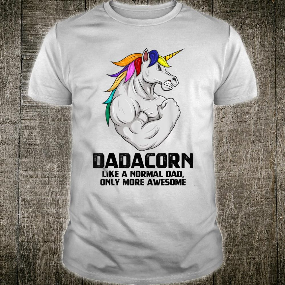 Dadacorn Muscle Dad Unicorn Fathers Day Shirt