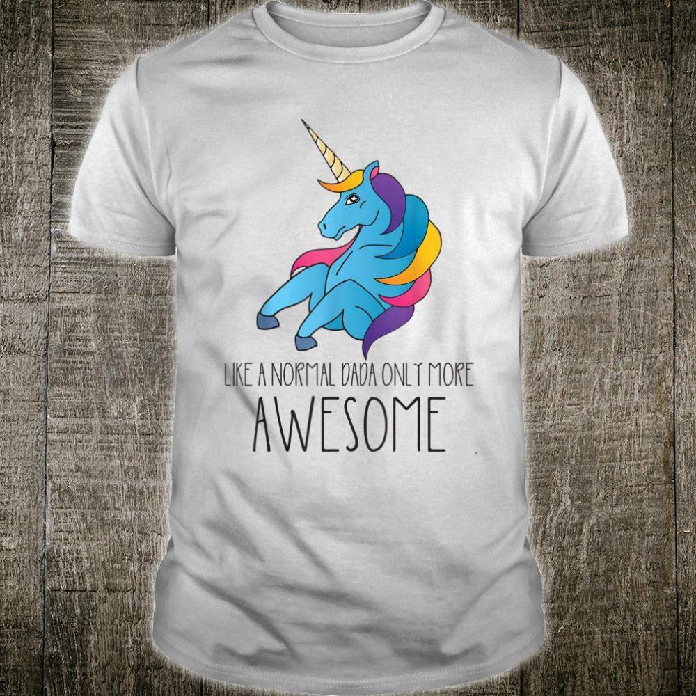 Dadacorn Unicorn Dad and Baby Father Day Papa Him Shirt