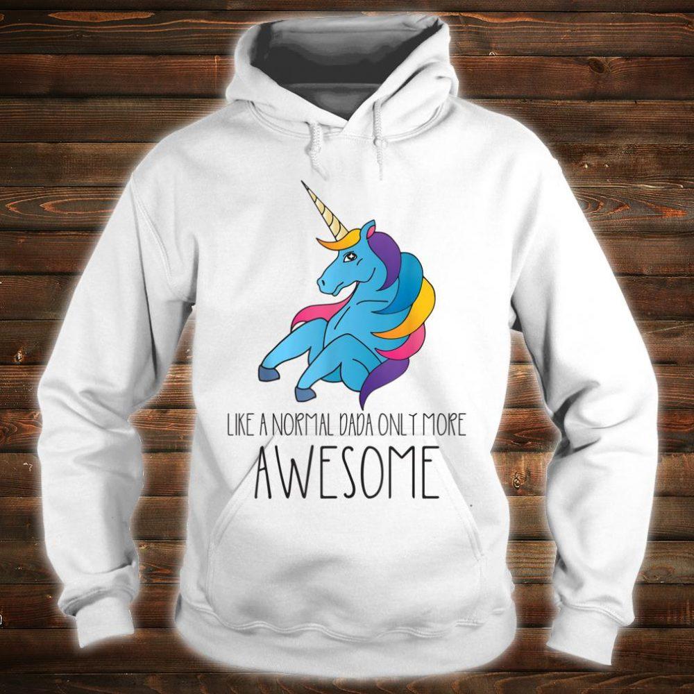 Dadacorn Unicorn Dad and Baby Father Day Papa Him Shirt hoodie