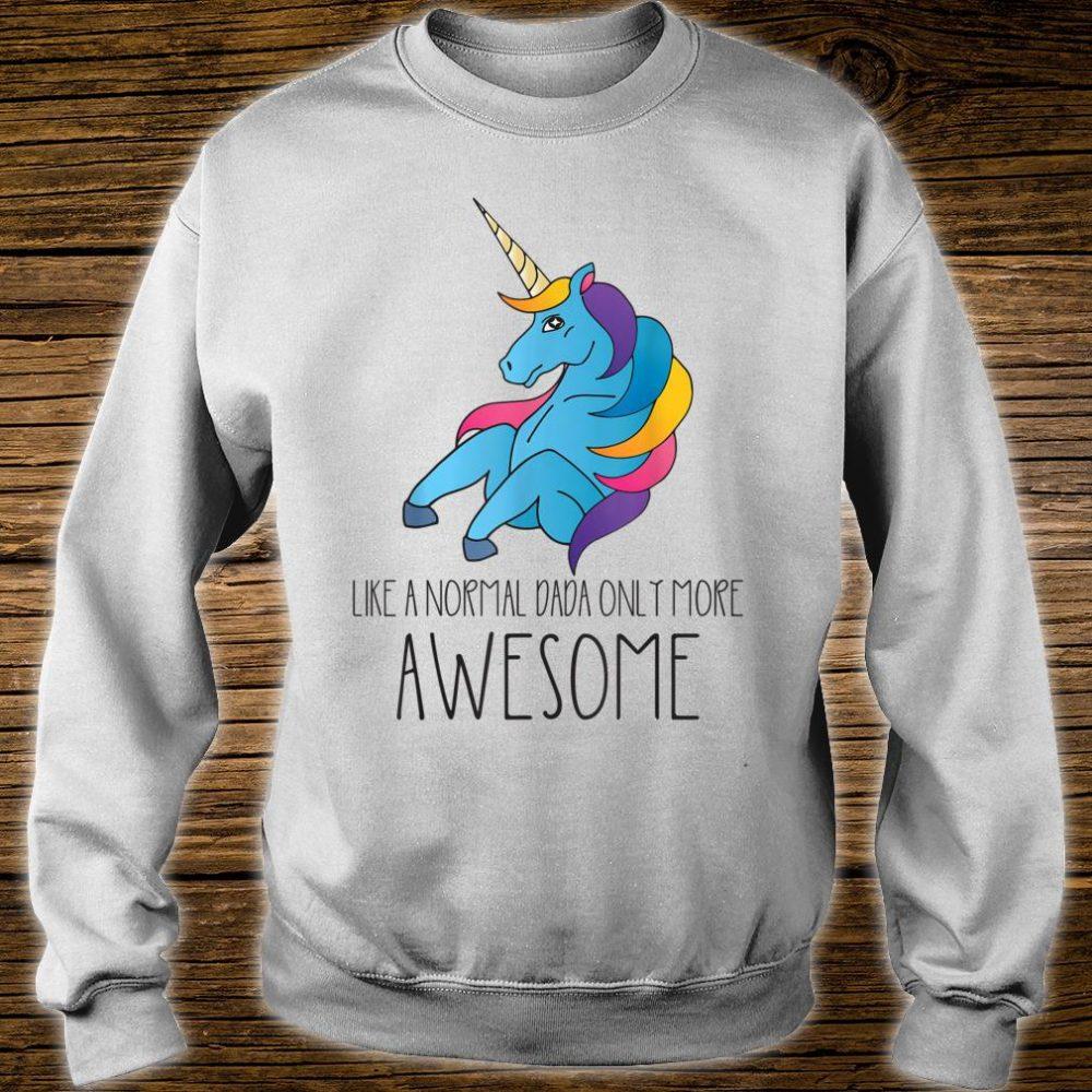 Dadacorn Unicorn Dad and Baby Father Day Papa Him Shirt sweater