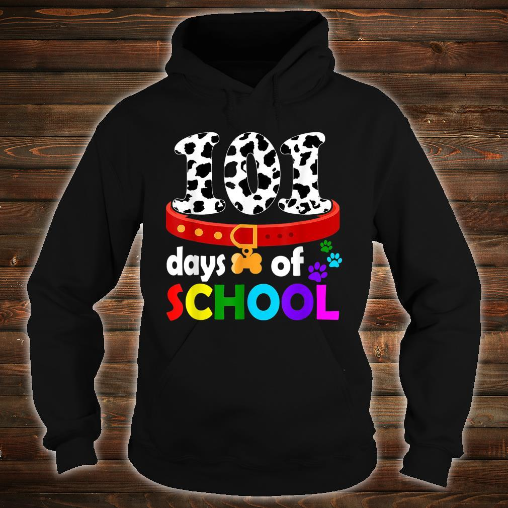 Dalmation Dog 101 Days Of School Shirt Teachers Shirt hoodie