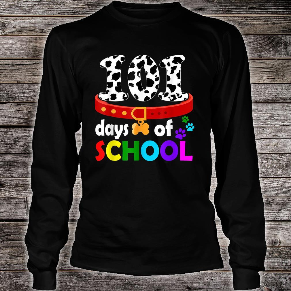 Dalmation Dog 101 Days Of School Shirt Teachers Shirt long sleeved