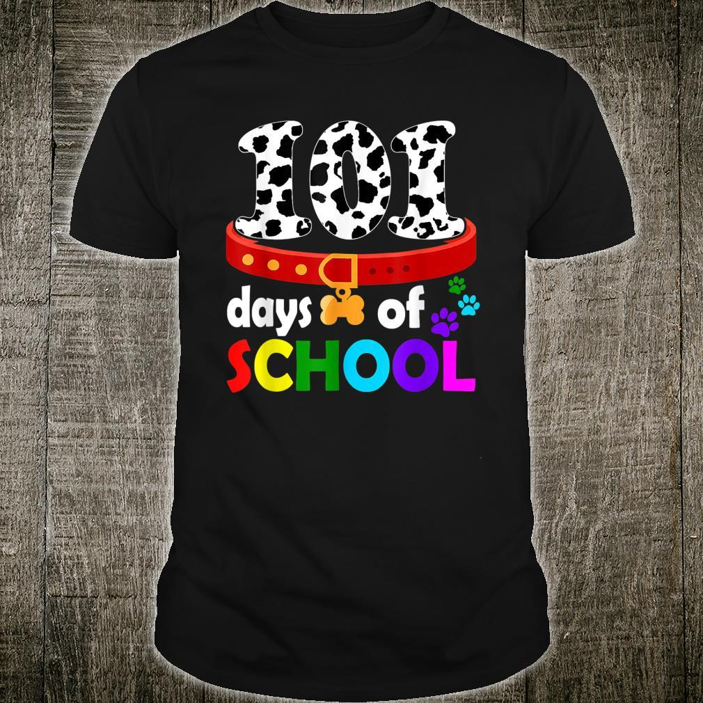 Dalmation Dog 101 Days Of School Shirt Teachers Shirt