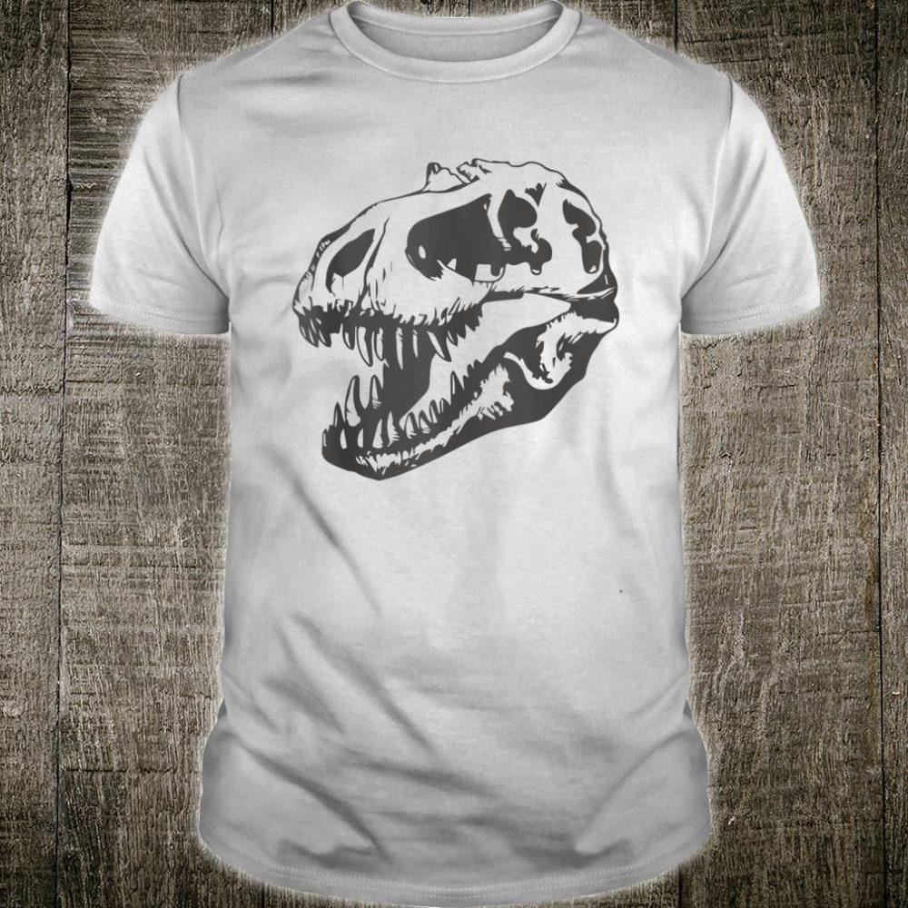 Dinosaur Bones T-Rex Skull Tyrannosaurus Rex Halloween Scary Shirt