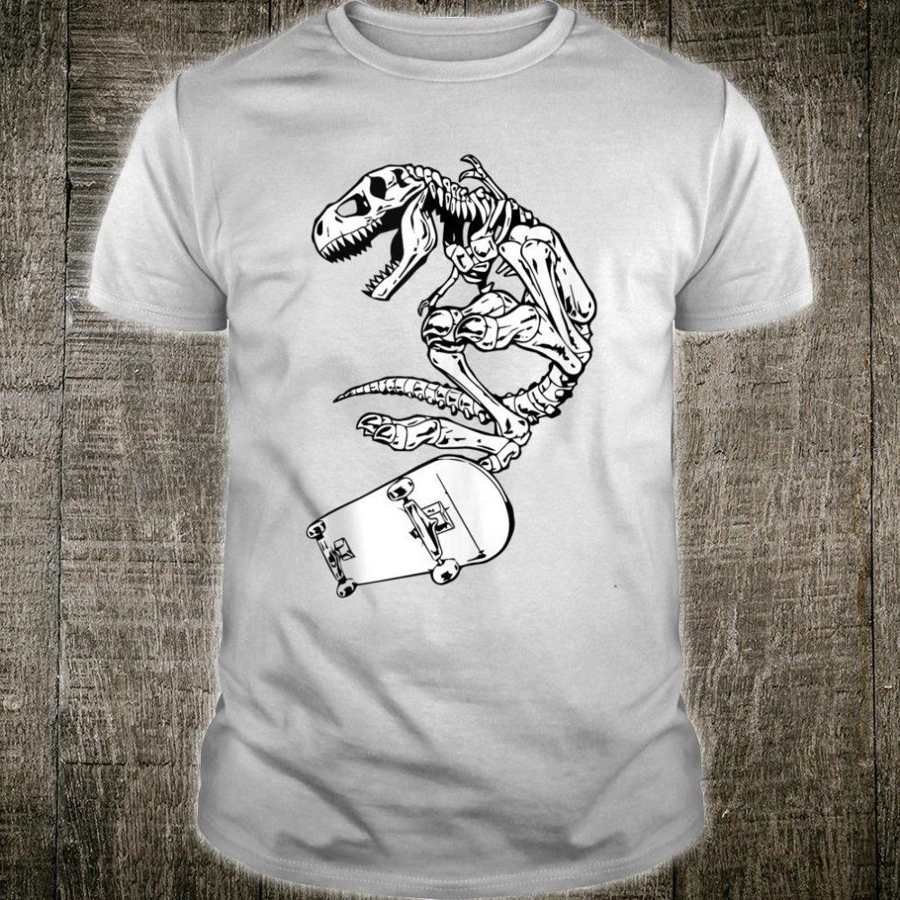 Dinosaur skeleton Skateboard cool skater Shirt