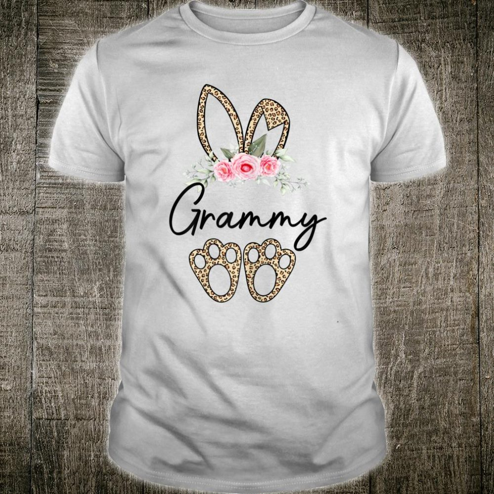 Flower Leopard Bunny Grammy Easter Day Shirt