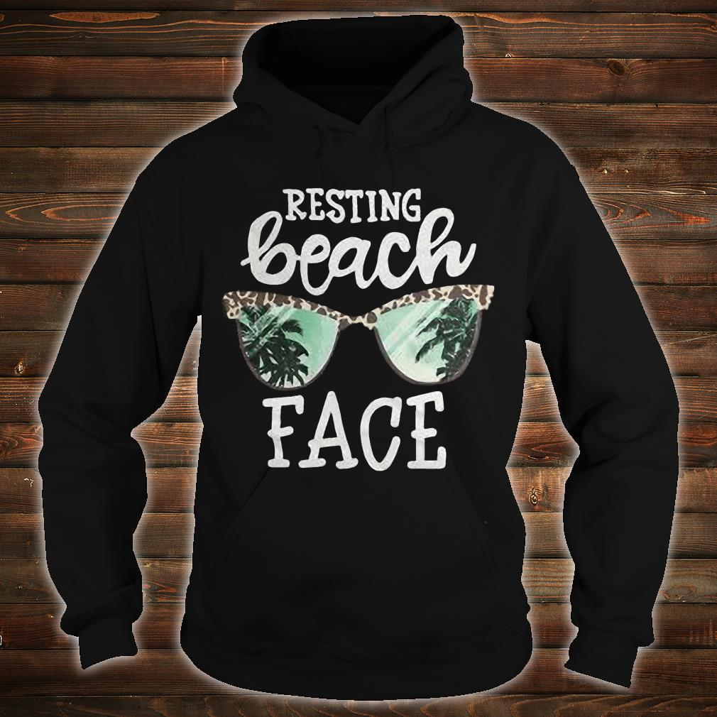 Glasses Resting beach face shirt hoodie