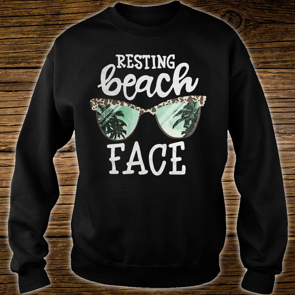 Glasses Resting beach face shirt sweater