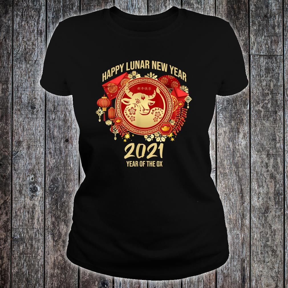 Happy Lunar New Year 2021 Year Of The Ox Shirt ladies tee