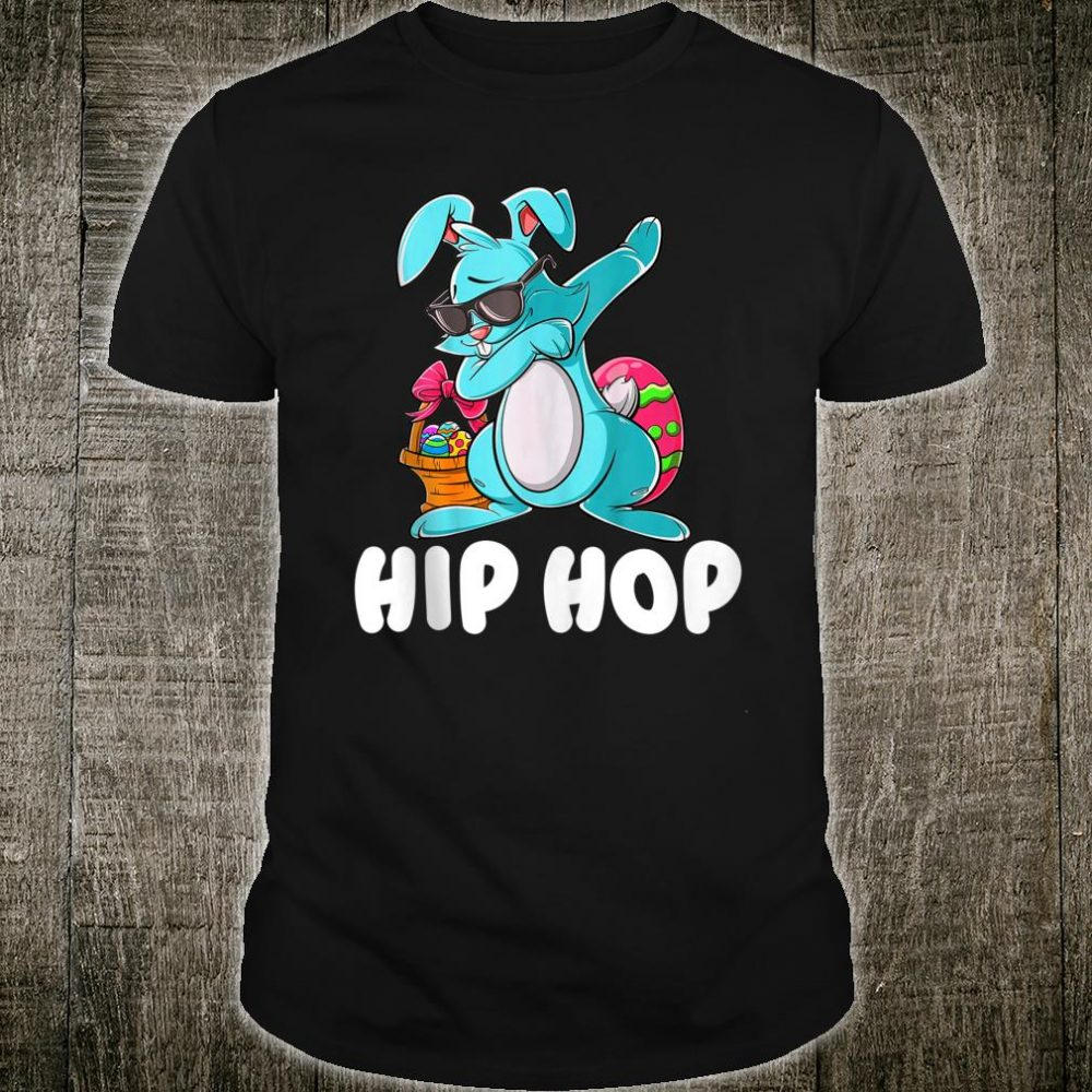 Hip Hop Dabbing Bunny With Sunglasses Shirt