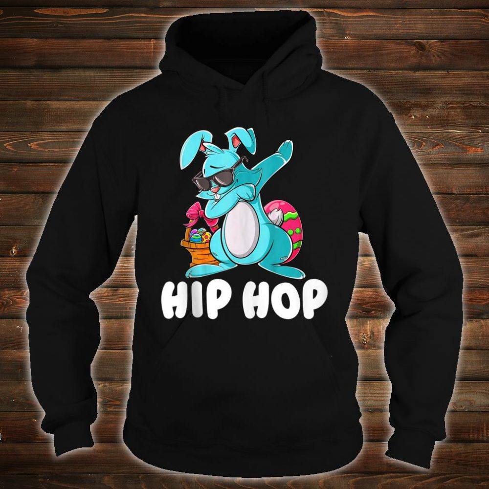 Hip Hop Dabbing Bunny With Sunglasses Shirt hoodie