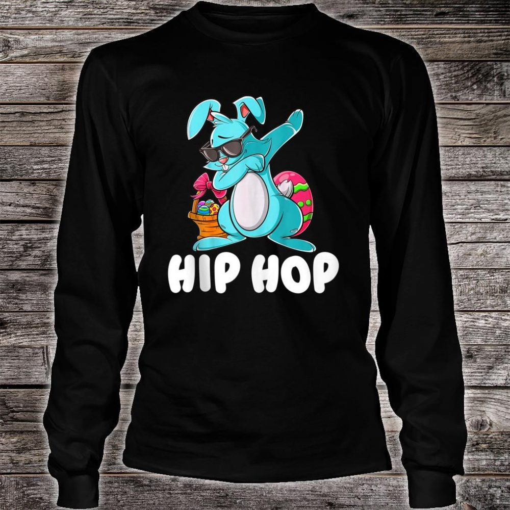 Hip Hop Dabbing Bunny With Sunglasses Shirt long sleeved