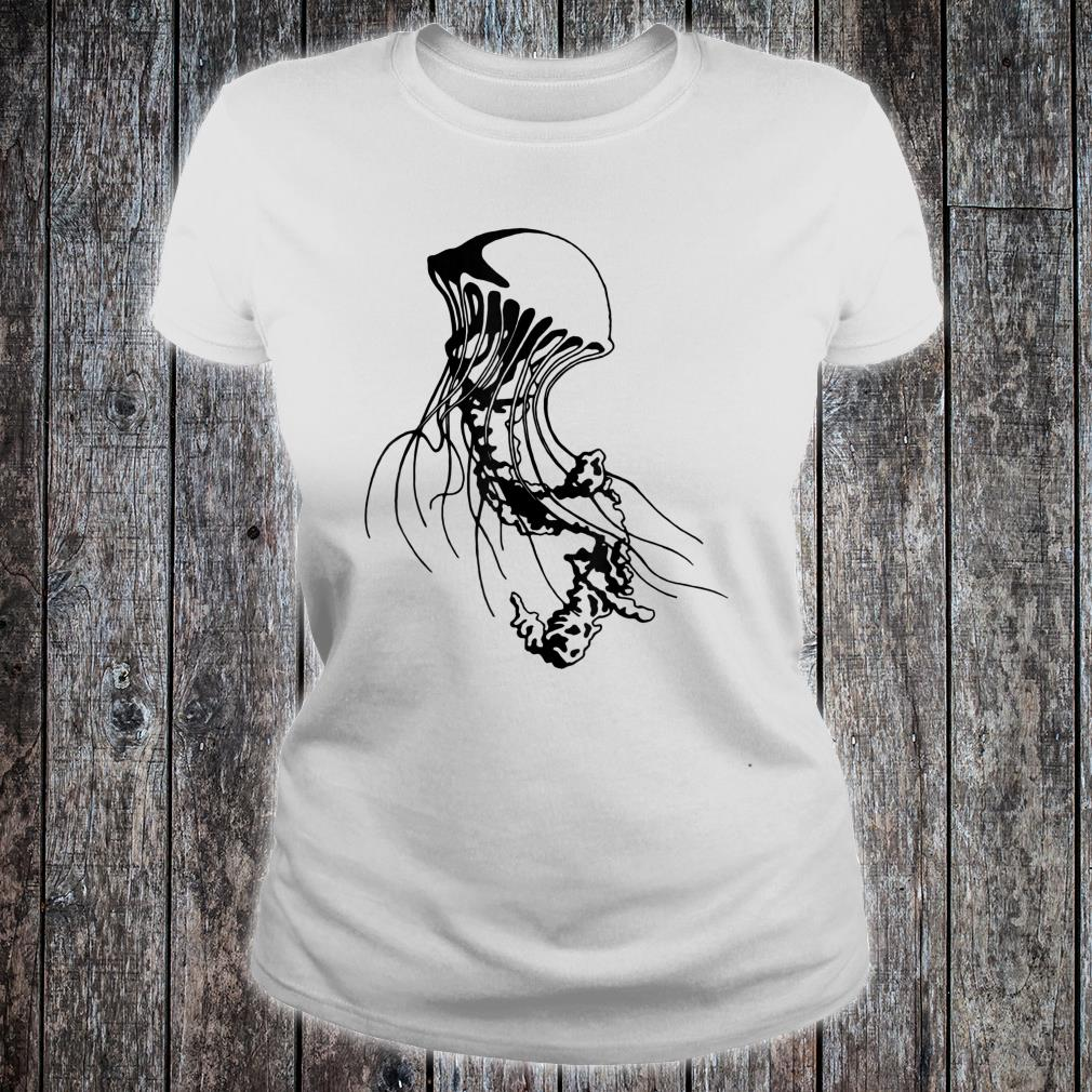 Jellyfish Black Sea Nettle Animal Series Inkomancer Shirt ladies tee