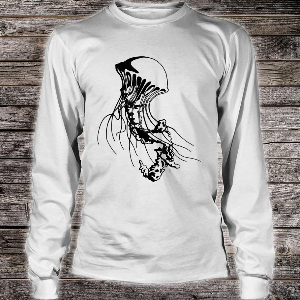 Jellyfish Black Sea Nettle Animal Series Inkomancer Shirt long sleeved