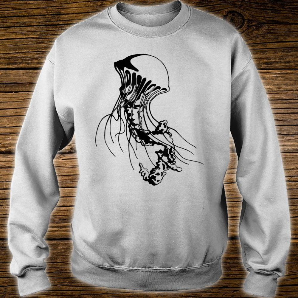 Jellyfish Black Sea Nettle Animal Series Inkomancer Shirt sweater