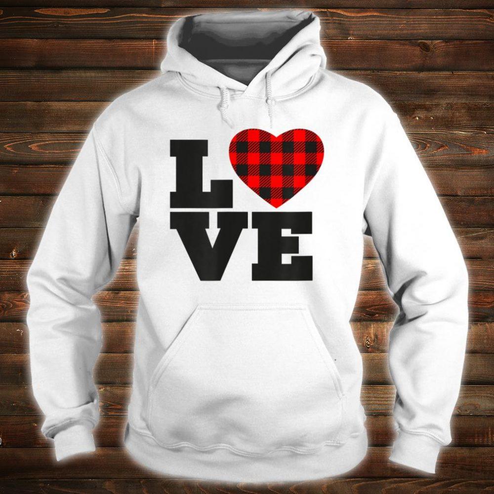 Love Buffalo Plaid Printed Heart Shirt hoodie