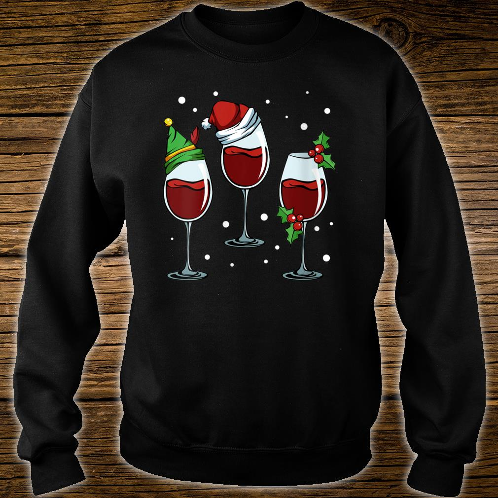 Christmas Wine.Merry Christmas Wine Lover Red White Alcoholic Drink Grapes Shirt