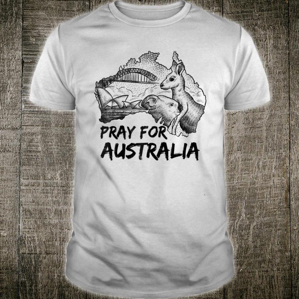 Pray For Australia Bush Fire Save Animals Kangaroo Koala Shirt