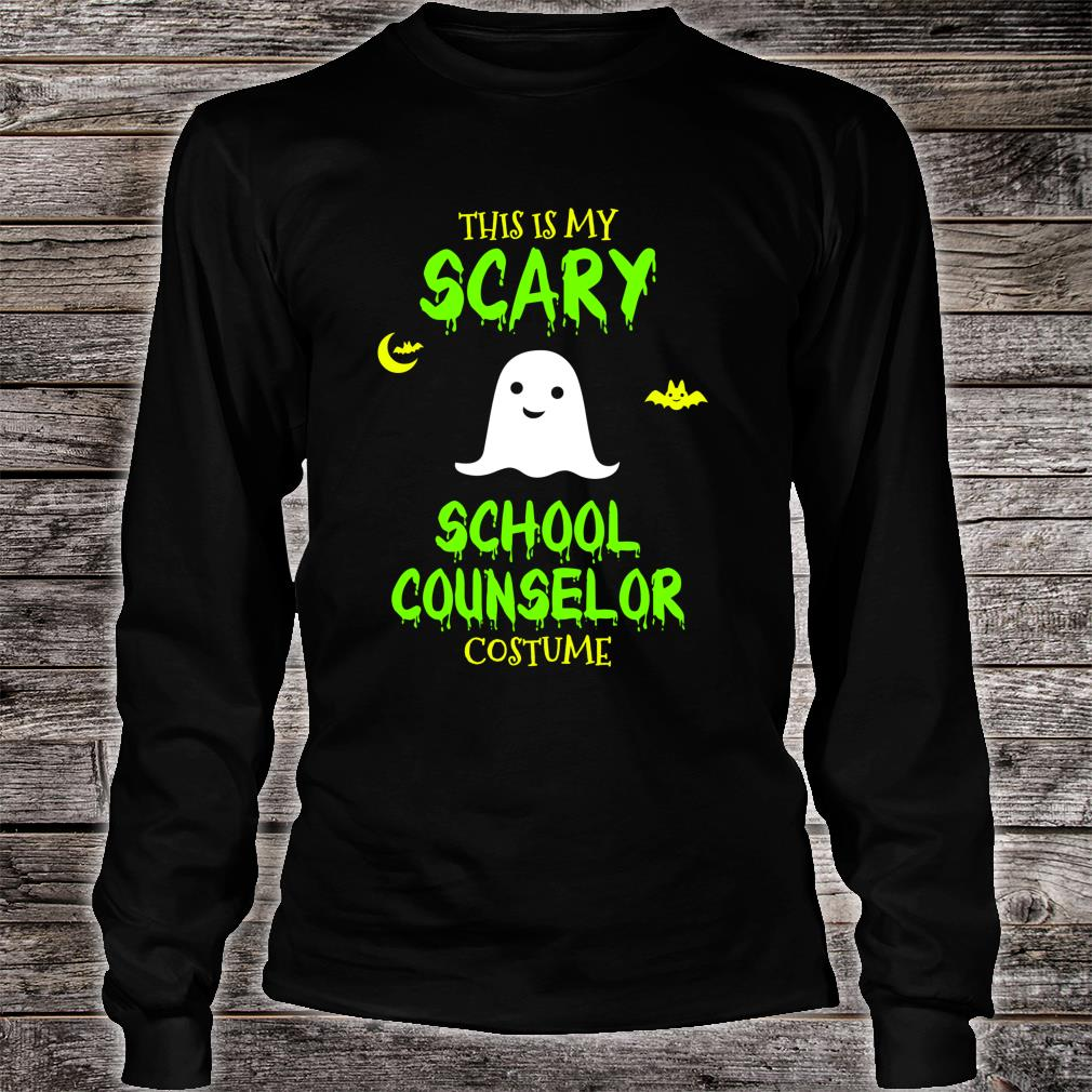Scary School Counselor Costume Halloween Shirt long sleeved