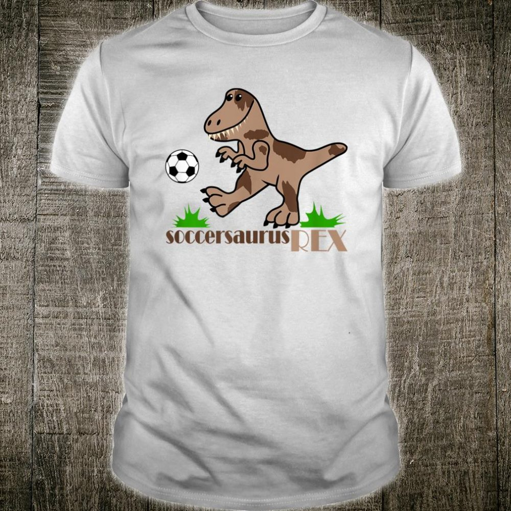 Soccersaurus REX Dinosaur Playing Soccer for Boys and Girls Shirt