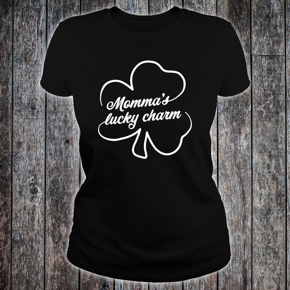 St Patrick's Day Momma's Lucky Charm Shirt ladies tee