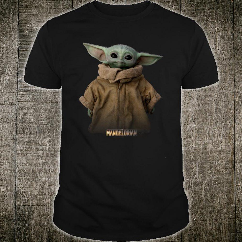 Star Wars The Mandalorian Logo The Child Simple Portrait Shirt