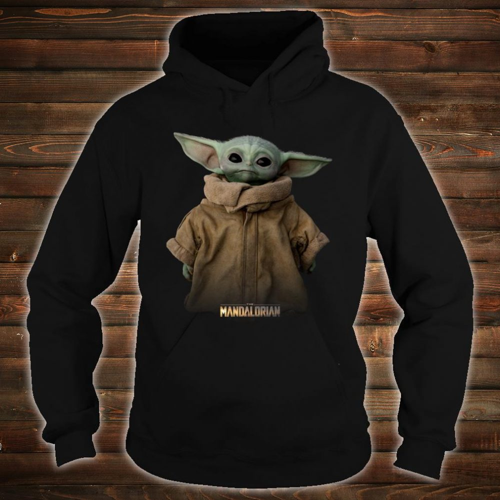 Star Wars The Mandalorian Logo The Child Simple Portrait Shirt hoodie