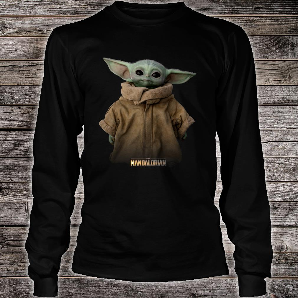 Star Wars The Mandalorian Logo The Child Simple Portrait Shirt long sleeved