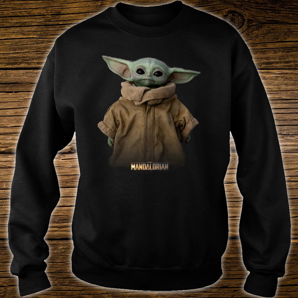 Star Wars The Mandalorian Logo The Child Simple Portrait Shirt sweater