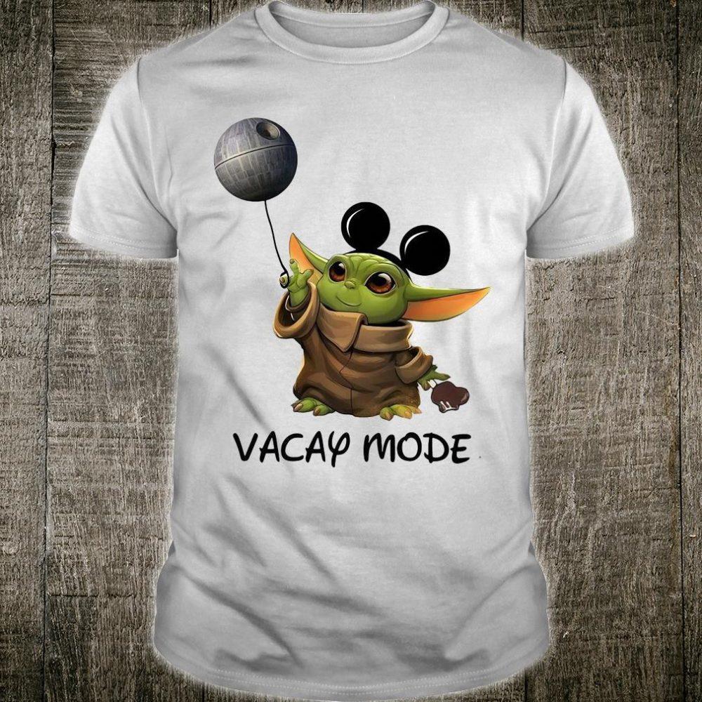 Star Wars baby Yoda vacay mode shirt
