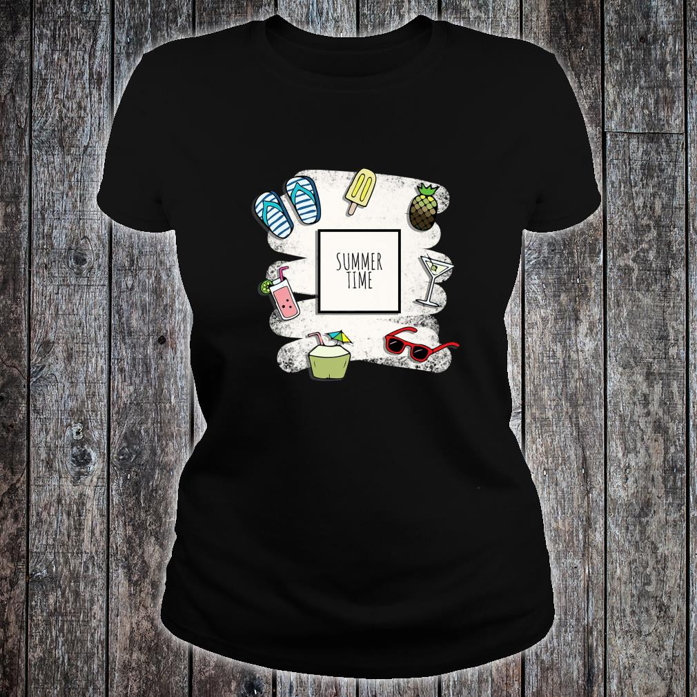 Summer Time Cocktails, Pineapple, Sunglasses Shirt ladies tee