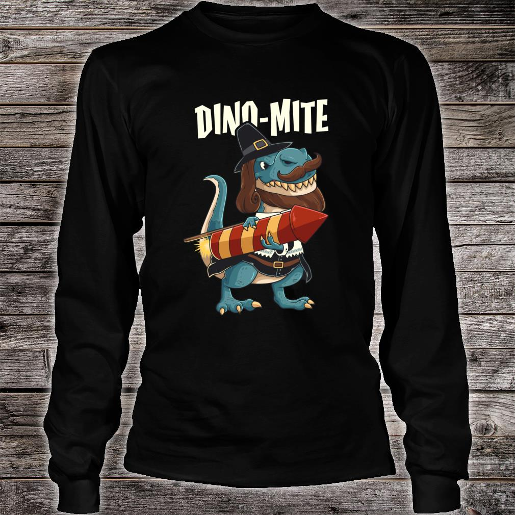 T Rex Dino Mite Guy Fawkes Bonfire Night Fireworks Shirt long sleeved