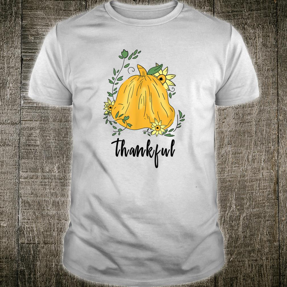 Thankful Hand Drawn Pumpkin Thanksgiving Autumn Shirt