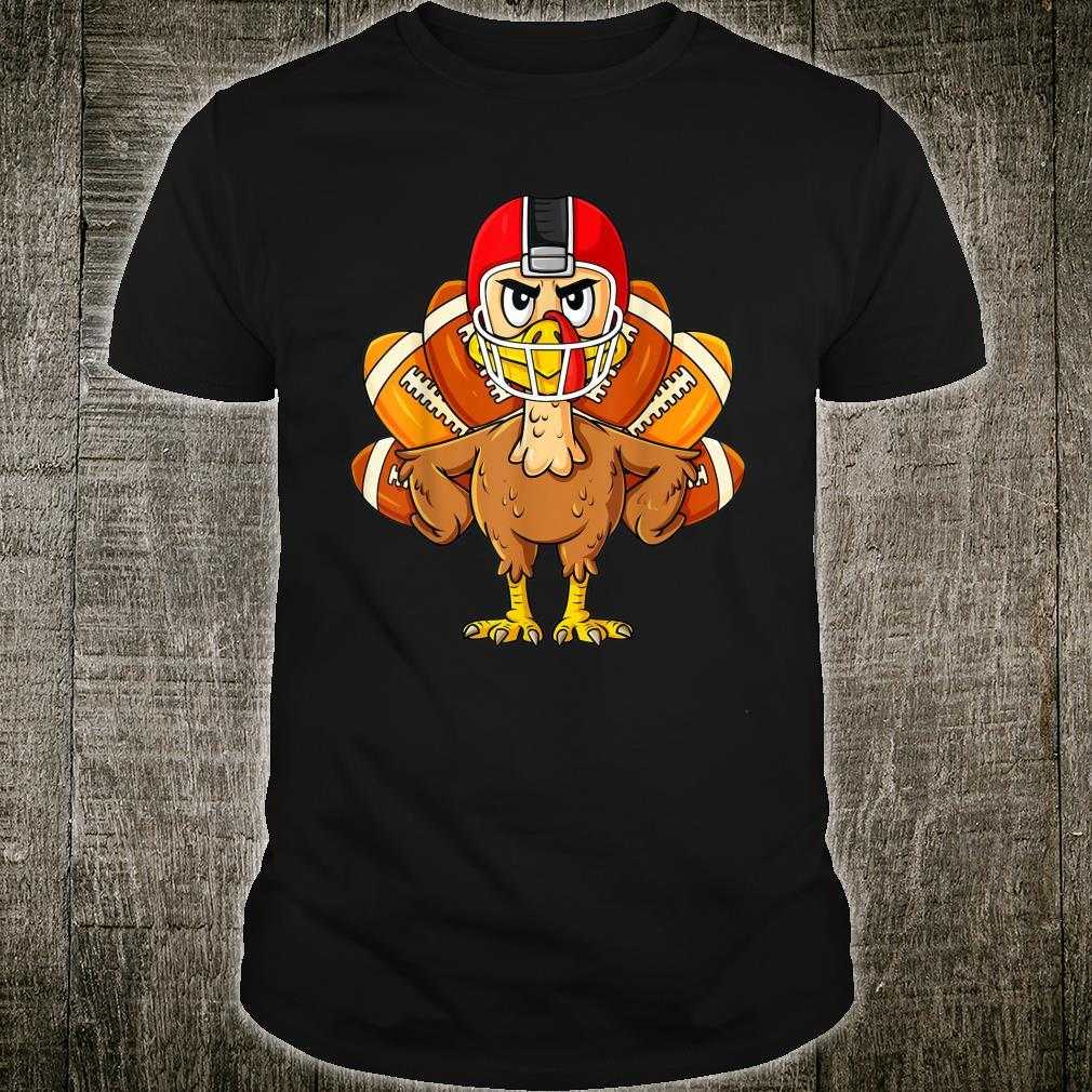 Thanksgiving Turkey Football Player Boys Girls Shirt