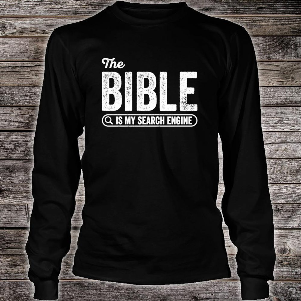 The Bible Book for Evangelical Christian IT Shirt long sleeved