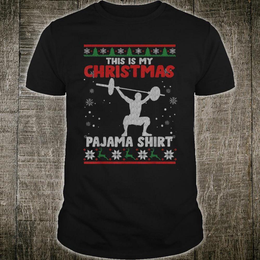 This Is My Christmas Pajama Shirt Powerlifting Sweater Shirt