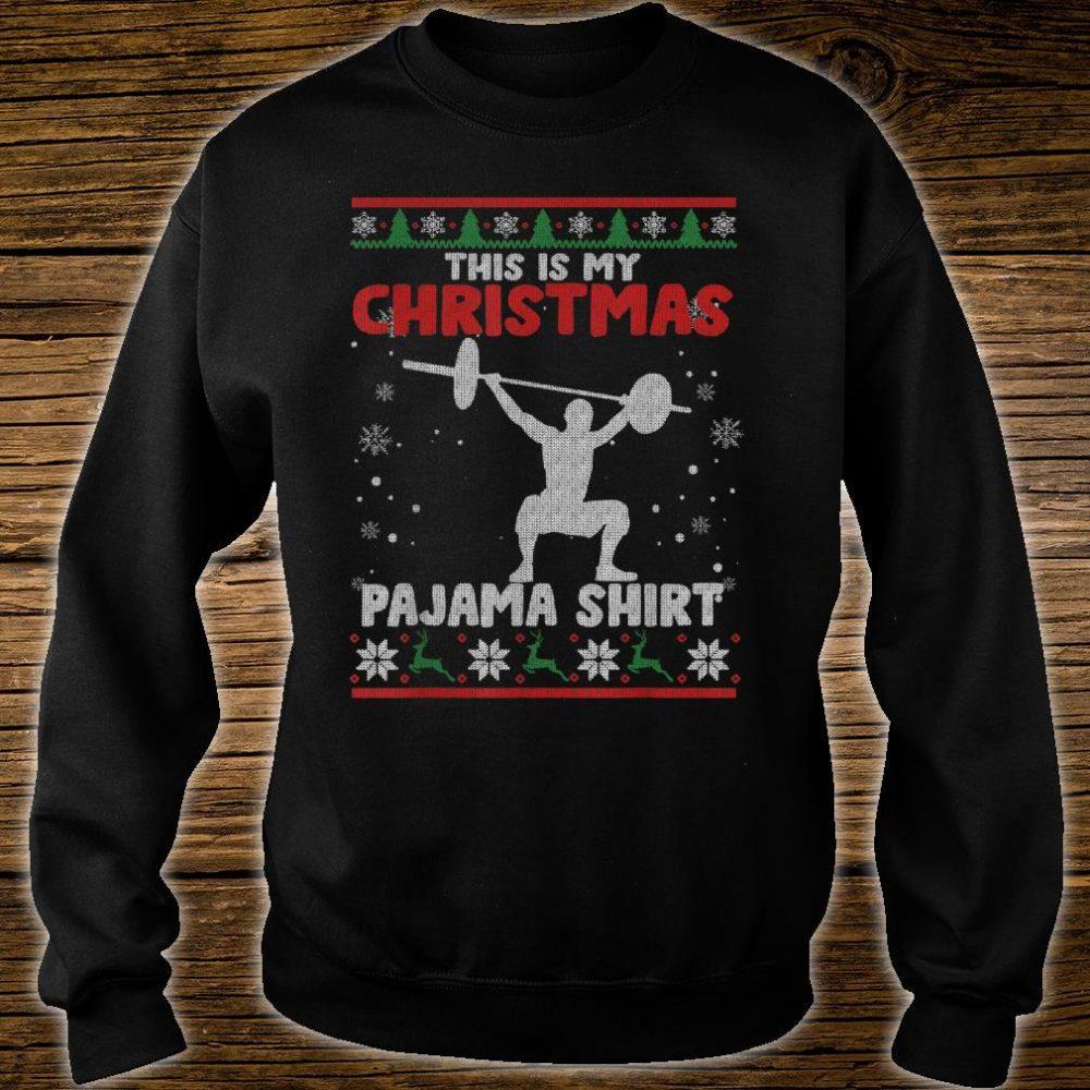 This Is My Christmas Pajama Shirt Powerlifting Sweater Shirt sweater